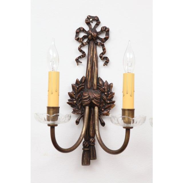 Image of French Bronze Art Nouveau Sconces - A Pair