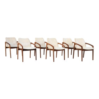 Kai Kristiansen for Korup Stolefabrik Mid-Century Modern Carver Rosewood Dining Chairs - Set of 6
