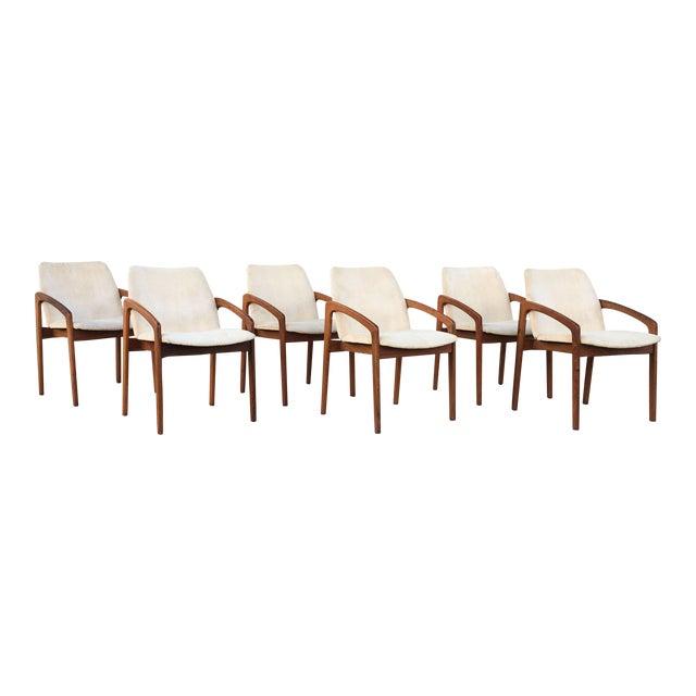Kai Kristiansen for Korup Stolefabrik Mid-Century Modern Carver Rosewood Dining Chairs - Set of 6 - Image 1 of 7