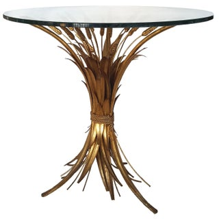 Vintage French Sheaf Wheat Coffee Table