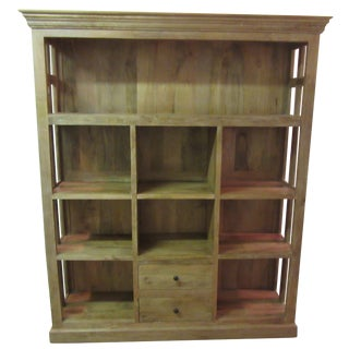 Large French Country Open-Front Cupboard