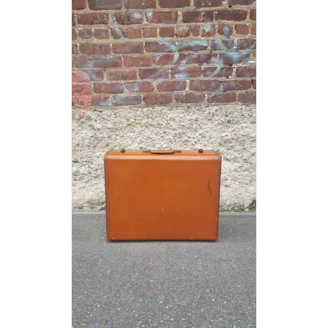 Image of Vintage Samsonite Leather Suitcase
