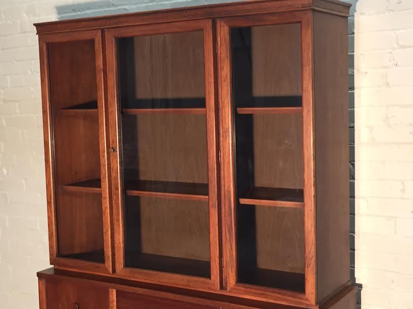 garrison walnut midcentury modern china cabinet image 6 of 10