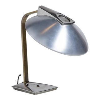 A Brass, Chrome and Aluminium Desk Lamp by Laurel, 1960s