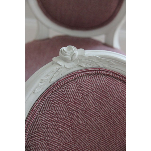 Swedish Gustavian Style Side Chairs - A Pair - Image 5 of 8