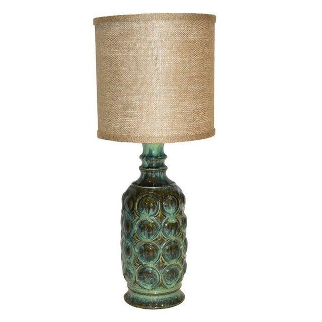 Vintage Ceramic Drip Glaze Lamp - Image 1 of 4