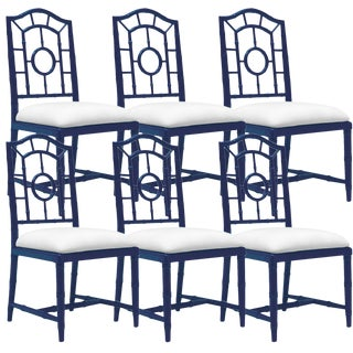 Bungalow 5 Chloe Navy Side Dining Chairs – Set of 6