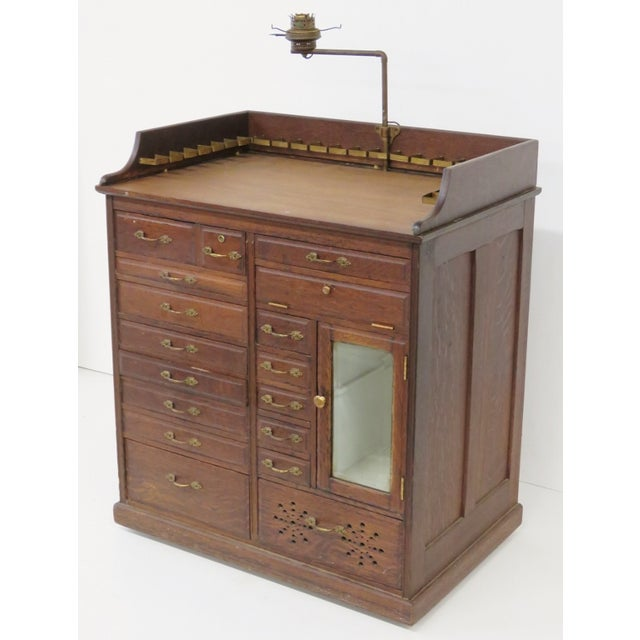 Image of W.D. Allison Co. Oak Dental Cabinet