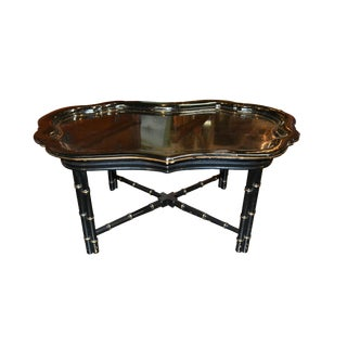 Continental Black Lacquered Coffee Table