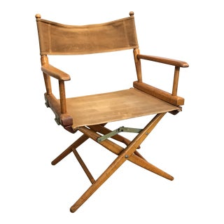 Wood & Canvas Fold Away Director's Chair