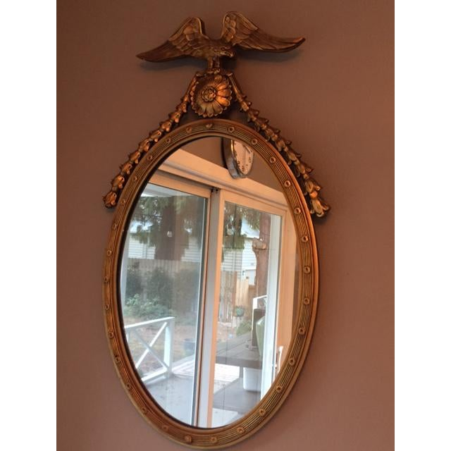 Federal Style Oval Mirror - Image 5 of 7