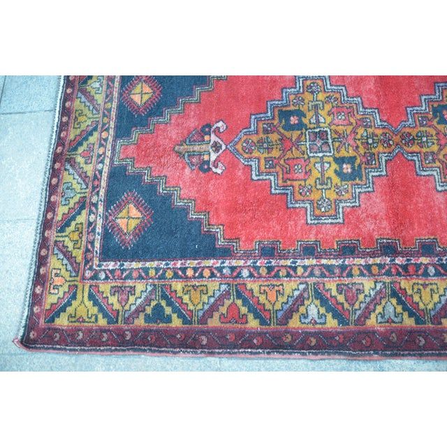 Turkish Handmade Anatolian Carpet - 4′ × 7′1″ - Image 6 of 6