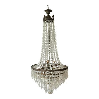 Drop Crystal Brass Chandelier