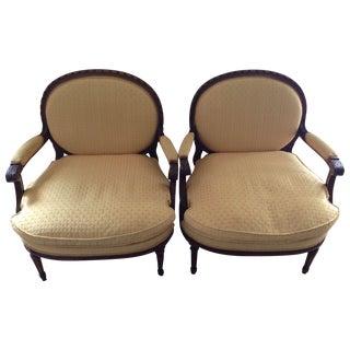 Louis XVI Fauteuil Vintage Chairs - Set of 2