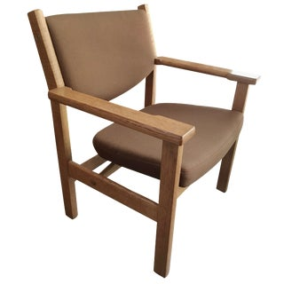 Hans J. Wegner Oak Lounge Chair