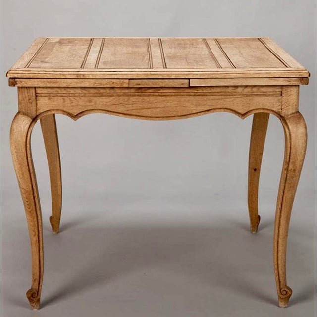 French Bleached Oak Table with Self Storing Leaves - Image 2 of 9