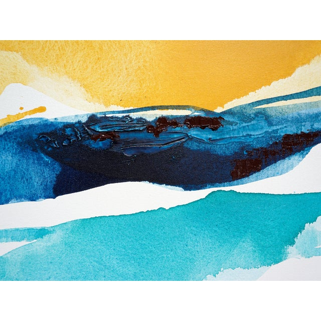 Goldenrod Diptych Abstract Painting - Image 4 of 4
