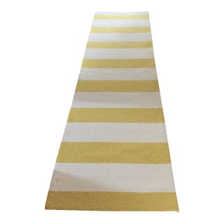Nu-Loom Yellow & White Striped Rug - 3′6″ × 10′