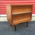 Image of Mid-Century Modern Two Drawer Nightstand