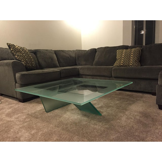 Roche bobois glass coffee table chairish Roche bobois coffee table