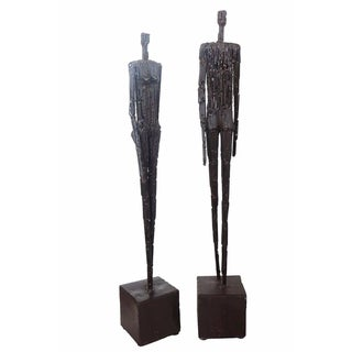 Nail Sculptures in the Manner of Giacomett - Pair