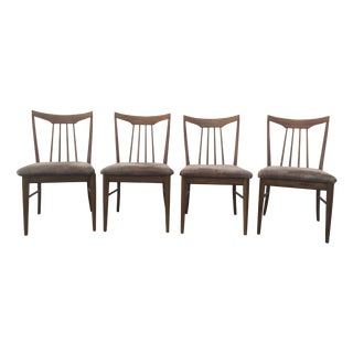 Mid Century Oak Dining Chairs - Set of 4