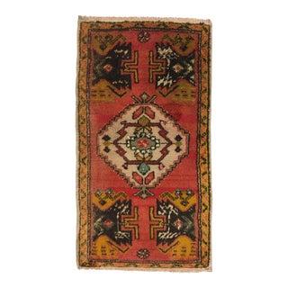 Turkish Anatolian Decorative Floor Carpet - 1′9″ × 3′2″