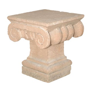 Spanish Colonial Style Carved Stone Capital late 20th century
