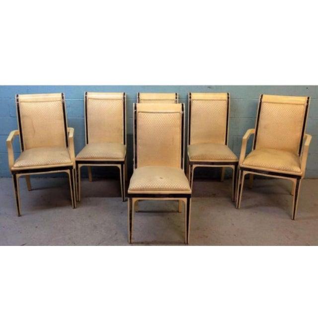 Enrique E. Garcel Columbian Goatskin Chairs - Set of 6 - Image 2 of 6