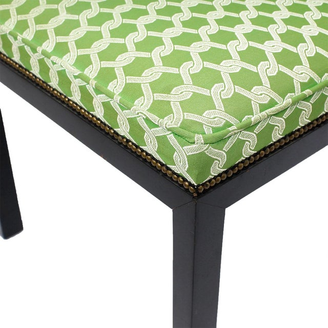 Green Accent Chairs - A Pair - Image 6 of 7