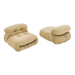 A Pair of Soriana Armchairs by Tobia Scarpa for Cassina Italia, Circa 1970