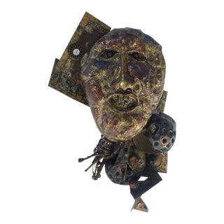 Abstract Found Art Brutalist Sculpture