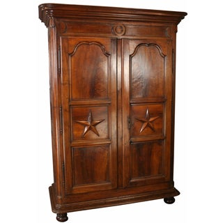 Louis XIV-Era Armoire with Stars