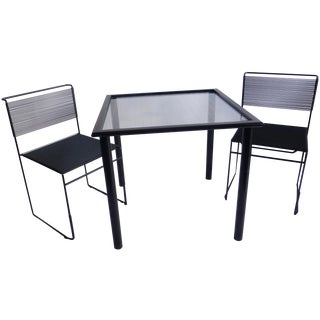 Italian Flyline Table and Spaghetti Chairs