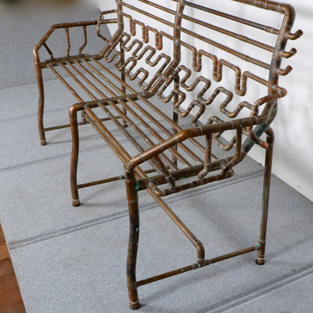 Modern Copper Pipe Bench - Image 7 of 11
