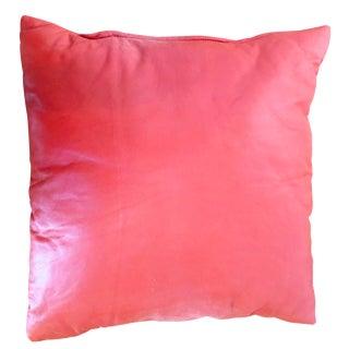 Orange Leather Pillow