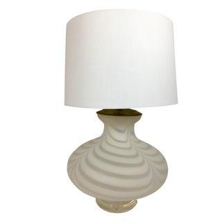 Mid-Century Swirled Glass & Lucite Lamp