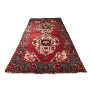 """Vintage Persian Red Karghai Rug - 5'1"""" X 9'8"""""""