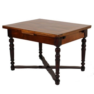 Antique Walnut Draw Leaf Farmhouse Table