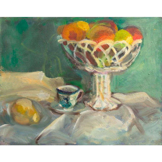 Oil Still Life With Porcelain Teacup - Image 1 of 5