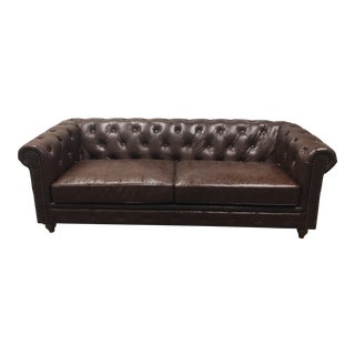 Bonded Leather Chesterfield Style Sofa