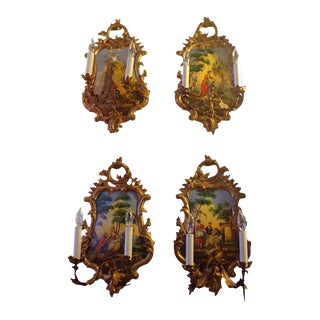 Venetian Wall Sconces - Set of 4