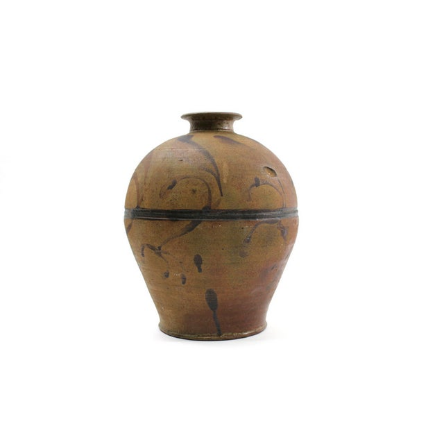 Image of 1960s Studio Pottery Vase, Signed Original