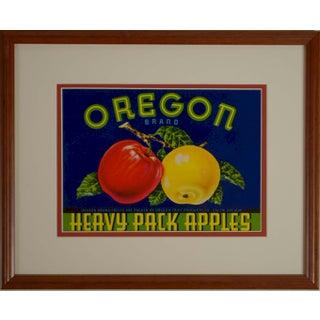 1940's Apple Crate Label, Framed