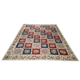 9′ X 12′ Modern Contemporary Handmade Needlepoint Rug - Size Cat. 9x12