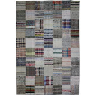 "Hand Knotted Patchwork Kilim by Aara Rugs Inc. - 9'11"" X 6'10"""