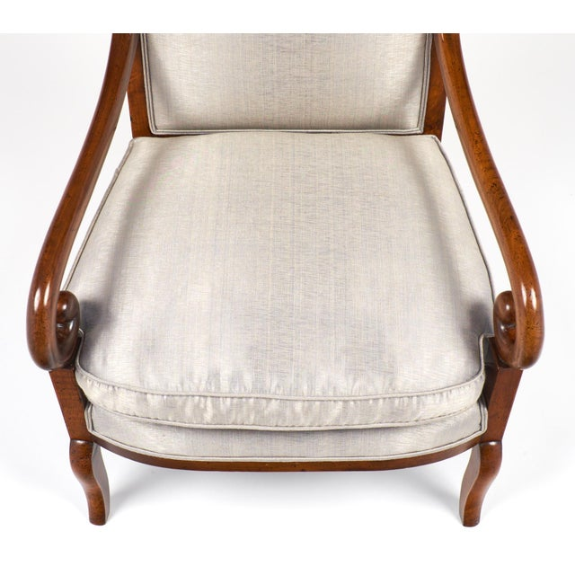 19th Century French Restauration Period Walnut Armchair - Image 9 of 11