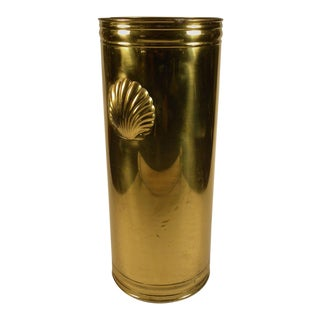 Vintage Brass English Umbrella Stand