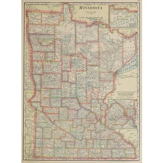 Vintage Map of Minnesota, 1916