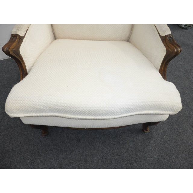 Image of Vintage French Provincial White Arm Chair